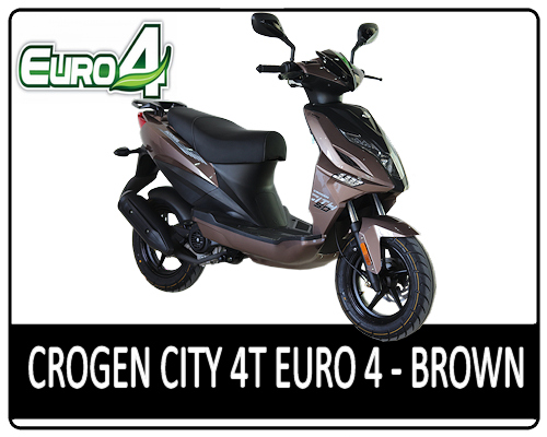 Motowell Crogen City 4T Brown - EURO4