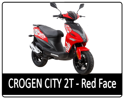 Motowell Crogen City 2T Red Face