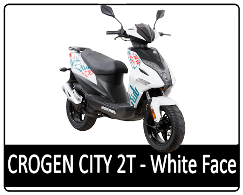 Motowell Crogen City 2T White Face