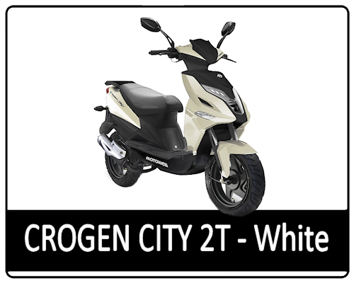 Motowell Crogen City 2T White