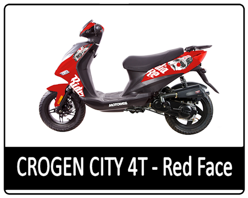 Motowell Crogen City 4T Red Face