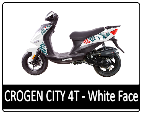 Motowell Crogen City 4T White Face