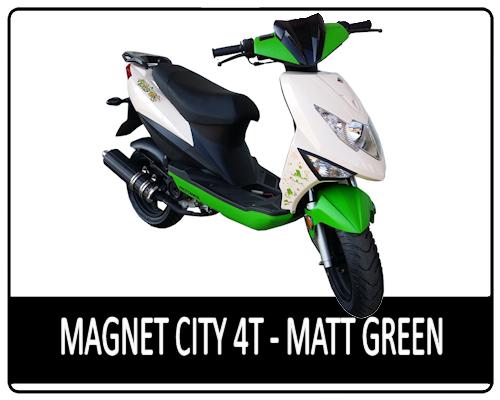 Motowell Magnet City 4T matt zöld