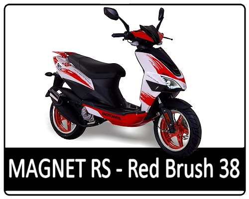 Motowell Magnet RS Red Brush 38
