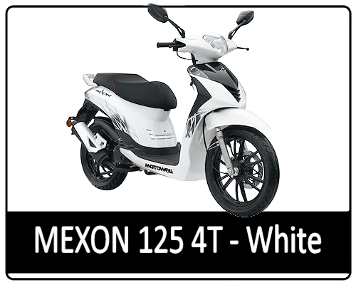 Motowell Mexon 125 4T White