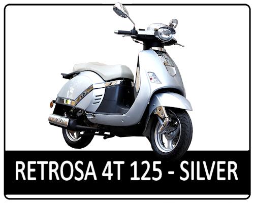 Motowell Retrosa 125 4T Silver