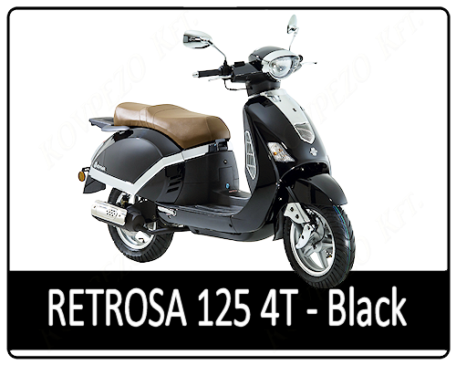 Motowell Retrosa 125 4T Black