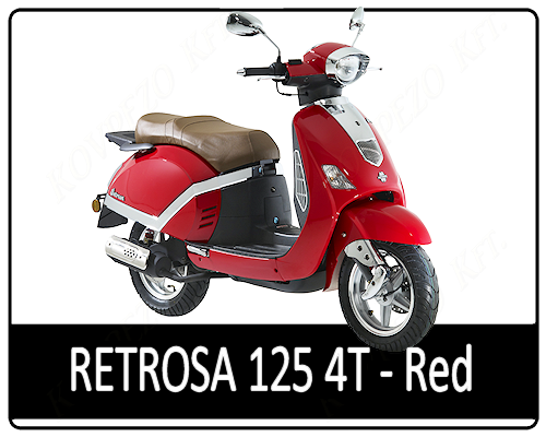 Motowell Retrosa 125 4T Red