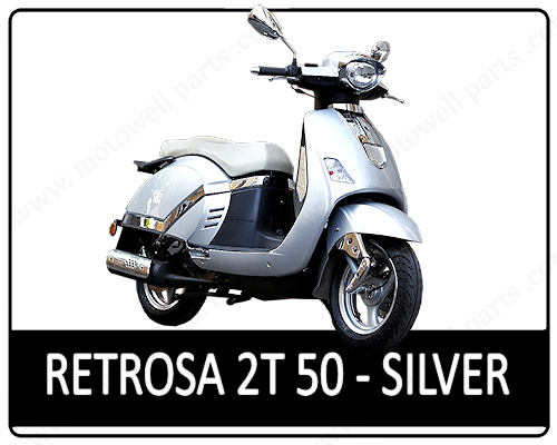 Motowell Retrosa 50 2T Silver