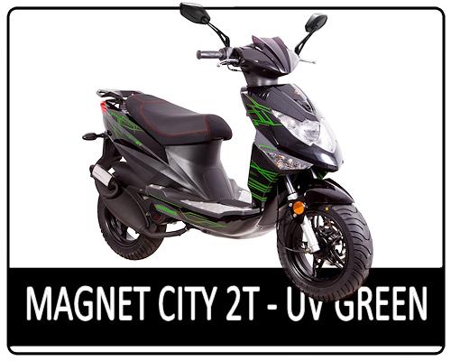 Motowell Magnet City 2T UV zöld